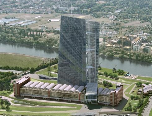 O projecto da nova sede do Banco Central Europeu em Frankfurt