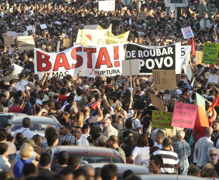Manifestação de dia 15 de Setembro de 2012 contra as medidas de austeridade e da Troika