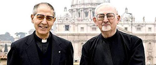 Adolfo Nicolas e Hans Kolvenbach, os dois Papas Negros