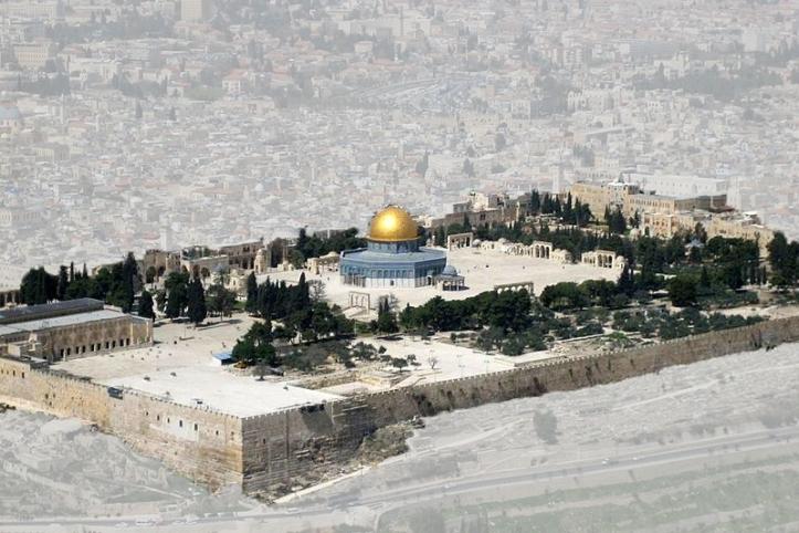 O Complexo Al-Aqsa, também chamado o Monte do Templo, em Jerusalém