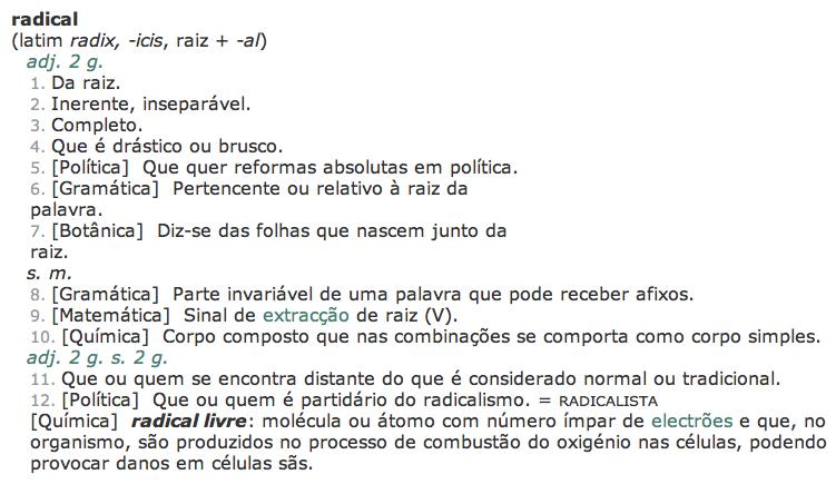 Definição de Radical