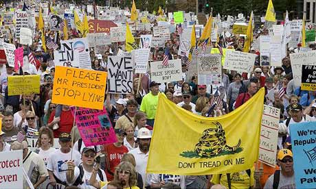 Uma manifestação do movimento 'Tea Party'