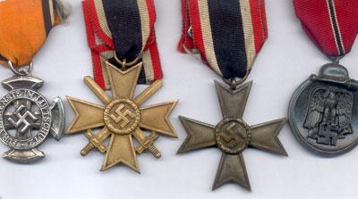 Mais medalhas Nazis, contendo a Cruz Celta e as Espadas Cruzadas...