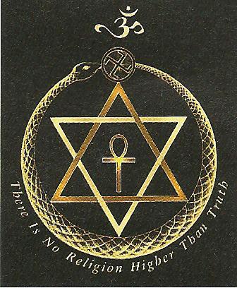 Símbolo da Sociedade Teosófica, inspiração por detrás de muitas crenças Nazis