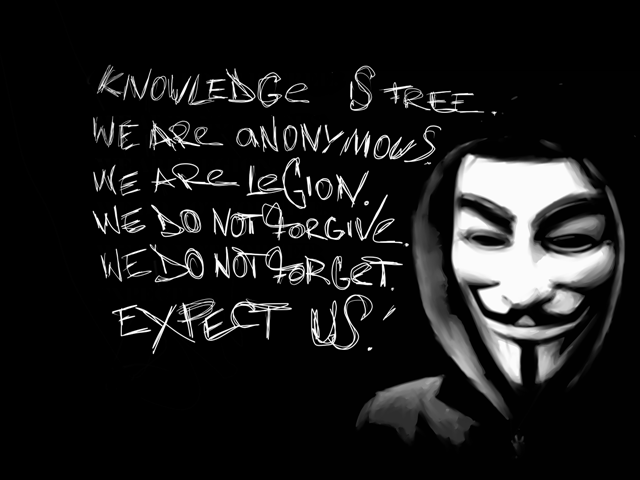 O símbolo do grupo 'Anonymous' é uma máscara com a cara do Coadjutor Jesuítas, Guy Fawkes, e o seu credo, nomeadamente o termo 'we do not forgive, we do not forget', 'nós não perdoamos, nós não esquecemos', reflete de uma forma alarmante a natureza vingativa e sem escrúpulos da Companhia de Jesus