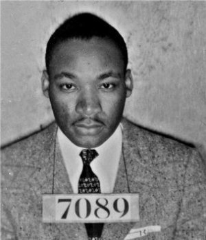 Martin Luther King, preso por desobediência civil
