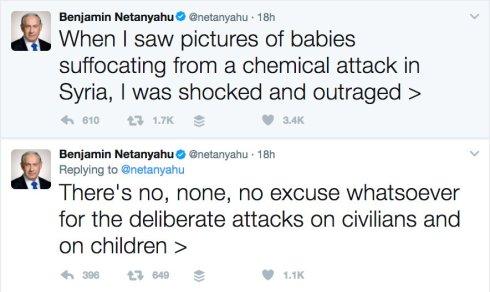 Netenyahu Syria Tweet