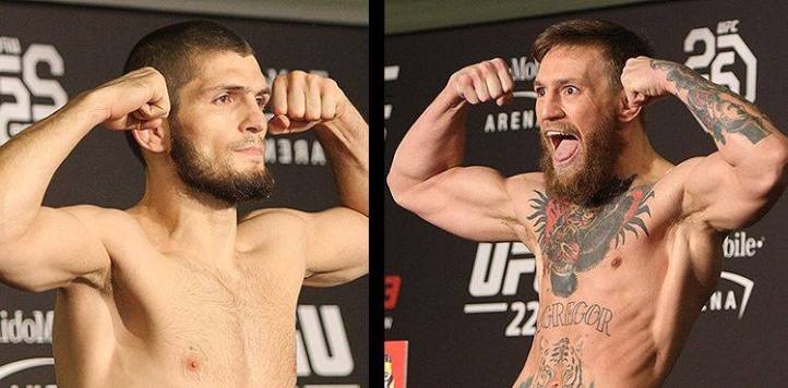 Khabib vs. McGregor Weigh In